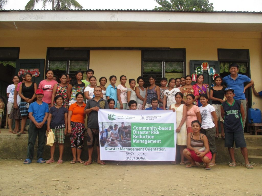 To culminate the training, participants of the Disaster Risk Reduciton Orientation (DRRO) in Barangay Bulao, Basey, Samar, posed with the CEC staff.