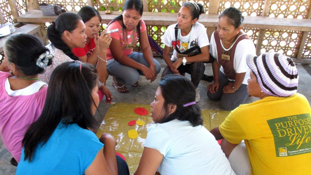 Members of Cabuynan Women's Association (CWA) plan out their activities for the next three years during the Organization Planning workshop last April.